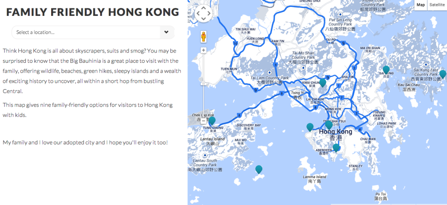 Accidental Tai-Tai Air France Family Friendly Hong Kong Map