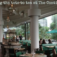 Afternoon tea with kids at The Continental, Pacific Place, Hong Kong